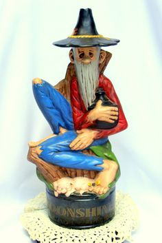 Hillbilly Moonshine Whiskey Figural Decanter by BestofbothWorlds, $36.00