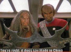 Star Trek ... Klingon weapons made in China?