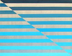 Blue Stripes : My first experiment with using a palette knife to achieve a smooth finish. Medium: Acrylic on Canvas Size: x Hard Edge Painting, Palette Knife, Optical Illusions, Thought Provoking, Geometric Shapes, Canvas Size, Experiment, Blue Stripes, Pop Art