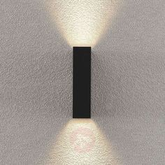 Lindby Ugar LED outdoor wall light, 4.8 cm up/down | Lights.ie