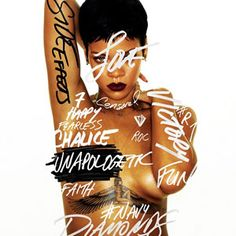 """Rihanna Unveils Topless """"Unapologetic"""" Cover"""