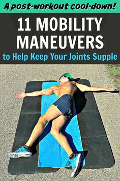 Mobility maneuvers help keep joints supple so that you move better, have better posture, and reduce injury risk. This flexibility workout will help. Video included.  #mobility #over50 #flexibility #cooldown #workout #overfiftyandfit #healthier #joints #fitness Post Workout Stretches, Gym Workout Tips, No Equipment Workout, At Home Workouts, Health And Fitness Tips, Fitness Goals, Fitness Motivation, Improve Flexibility, Flexibility Workout