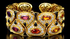 Known for bold gold and colorful gemstone designs reflecting a modern Italian spirit, Marina Bulgari forged a signature collection bearing the name Marina B in the mid-1970s.