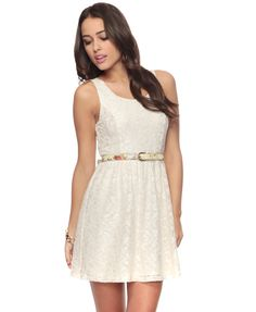 I could do so much with a dress like this.. I want a white lace dress so bad! I have brown boots now to wear it with!