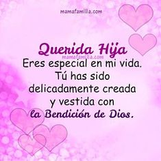 Imagenes de cumpleanos para una hija especial Prayers For My Daughter, Mom Prayers, To My Daughter, Mommy Quotes, Mothers Day Quotes, Mothers Love, Birthday Messages, Happy Birthday Wishes, Birthday Quotes