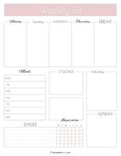 Weekly List Planner {Free Printable} Plan your weekly tasks and goals. Get your free weekly list planner printable now. Plan and upgrade your life one gift at a time with SaturdayGift. Planner Pdf, To Do Planner, Weekly Planner Template, Planner Sheets, Printable Planner Pages, Study Planner, Goals Planner, Planner Inserts, Free Printables