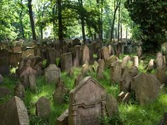 Prague's Old Jewish Cemetery contains more than 12,000 tombstones, with many additional bodies buried beneath. The oldest grave dates back to 1493; the last burial took place in 1787.