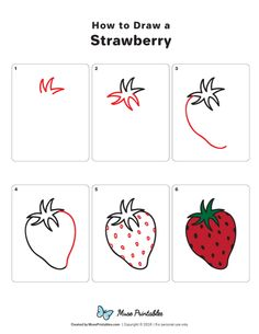 Some Tips, Tricks, And Techniques For Your Perfect learn to draw Cute Easy Drawings, Art Drawings For Kids, Kawaii Drawings, Doodle Drawings, Drawing For Kids, Doodle Art, Fruits Drawing, Food Drawing, Nature Drawing