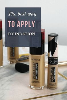 you want to apply foundation like a pro? check these tips and tricks for a perfect foundation application! Flawless Foundation Application, Foundation Tips, How To Apply Foundation, Perfect Foundation, Makeup Foundation, Powder Foundation, Natural Hair Mask, How To Apply Makeup, Loreal Paris