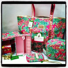 "Lilly Pulitzer ""Spike the Punch"" print in all these cute accessories!"