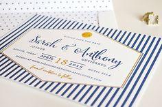 Sarah + Anthony's Preppy Chic Wedding Invitations