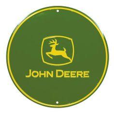 John Deere Round Sign, Green, John Deere Logo by John Deere, http://www.amazon.com/dp/B000YSPVW0/ref=cm_sw_r_pi_dp_4zXnsb05NQHD9