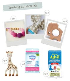 Teething Survival Kit | Hellobee  The bottom 3 are the things ive heard work best. Going to get the giraffe from sams next time I go. I have the other two on bottom. But half of these def help.
