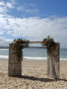 Distressed wooden doors create the perfect frame and back drop for a wedding. Frame the view or the door way to a new future for the newly weds. Rustic Doors, Wooden Doors, Wedding Arbors, Wedding Ceremony, Wedding Country, Rustic Wedding, Door Arbor, Distressed Doors, South Coast Nsw