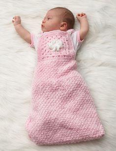 Yarnspirations.com - Bernat Granny Motif Baby Sack - Patterns  | Yarnspirations