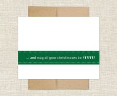 White Christmas Holiday card. $15.00, via Etsy.