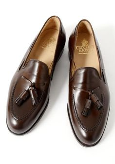 An interesting pair of tassel loafers. I'd probably prefer them in velvet but these are still nice.