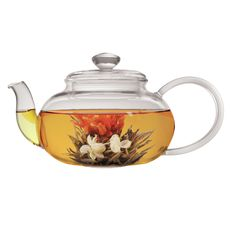 Features:  -Made of heat-resistant borosilicate glass.  -Capacity: 22 Ounces.  --This 22 oz. glass teapot is composed of borosilicate glass, which is durable and thermal shock resistant. The Lea Teapo