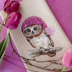 Night owl, it's perfect. Cross Stitch Owl, Cross Stitch Animals, Counted Cross Stitch Patterns, Cross Stitching, Bird Embroidery, Cross Stitch Embroidery, Photo Pattern, Bird Patterns, Wool Applique