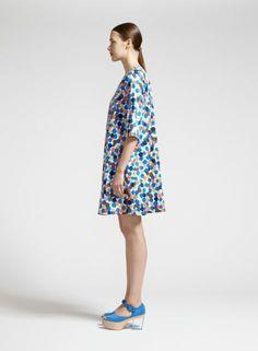 Aadi 1-mekko (sininen, persikka, ruskea) |Vaatteet, Naiset, Mekot ja hameet | Marimekko