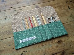 Dragonfly patterned Crochet Hook Roll *New*