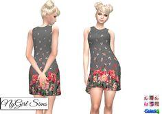 NyGirlS4_af_Sleeveless Floral Bordered Dress