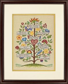 VINTAGE FAMILY TREE - Counted Cross Stitch Kit. I found this at The Angels Nook website.