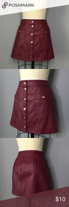 Forever 21 Faux Leather Skirt Forever 21 Faux Leather Skirt - Only worn once Forever 21 Skirts Mini
