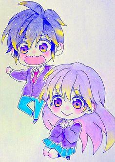 Koi, Anime Chibi, Anime Art, Zutto Mae Kara, Honey Works, Matching Profile Pictures, Kawaii, Mystic Messenger, Noragami