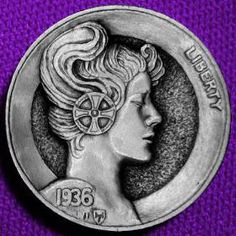Italy Pictures, Hobo Nickel, Coin Art, Old Coins, Coin Collecting, Art Forms, Sculpture Art, Rings For Men, Carving