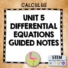 This bundle is designed for AP Calculus AB, AP Calculus BC, Calculus 1, and Calculus Honors. There are three lesson notes that follow the bundle for Unit 5, Differential Equations. Each set of guided notes provides a variety of examples with rigor necessary to prepare your students for a thorough understanding of the concepts related to Differential Equations. There is also a bonus lesson for Applications of Differential Equations.
