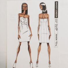 #tbt Maggy London Dresses 2011 @shawnamcgee_ny @lrpeacock #renaldobarnette #fashion #fashionart #lookoftheday #instalike #strapless #straplessdress #fashiondesign #fashiondesignsketch #sketches #designsketch #sexydress