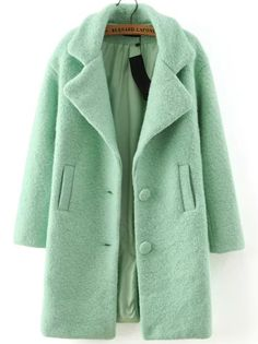 Shop Green Lapel Single Breasted Woolen Coat online. SheIn offers Green Lapel Single Breasted Woolen Coat & more to fit your fashionable needs.