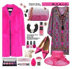 """""""Pink Paisley and Fur!"""" by esch103 ❤ liked on Polyvore featuring Moschino, Kate Spade, Yves Saint Laurent, Christopher Kane, OPI, Soap & Paper Factory, Topshop, Sigma Beauty, Scala and Chanel"""