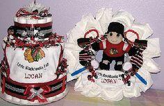 chiacog blackhawks baby  | Blackhawks-Baby-Gifts.JPG - Chicago Blackhawks Diaper Cake & Diaper ...