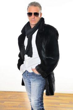 Mens MINK fur coat Herren PELZ NERZMANTEL VISONE PELLICCIA d.uomo FOURURRE VISON