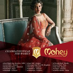 Handpicked Lehengas, Gowns, Suits and Sarees now on offer at 15 stores nationwide. #CelebrationWear for #Women #ByManyavar