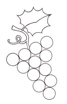 Los racimos de uvas, en plastilina, con gomets..., en septiembre la vendimia