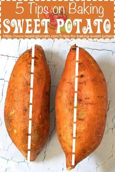 5 tips on how to bake the perfect sweet potato. It is easy to bake the perfect sweet potato by using these quick and essential tips. This is the best how-to recipe for a sweet potato. Since they are lo carb, sweet potatoes make for the best snack and dinn Potatoes In Oven, Cooking Sweet Potatoes, Baked Sweet Potato Oven, Steamed Sweet Potato, How To Cook Sweet Potato, Recipes For Sweet Potatoes, Perfect Baked Sweet Potato, Oven Roasted Sweet Potatoes, Sweet Potato Recipes Healthy