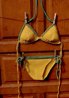 Crocheted Bikinis Top and Bottom by CapitanaUncino on Etsy, €45.00