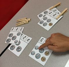 Great practice counting money with touch points AND getting fine motor skills work in!