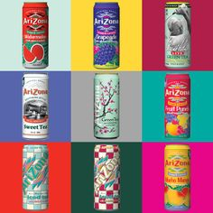 680ml Arizona iced tea cans