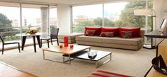 4 suites compuestas por dos ambientes que permite la flexibilidad tener una oficina privada ó de convertirse en 2 habitaciones.   - TV por cable  - Wi-Fi  - Cama King size ó Twin beds  - 2 baños  - Balcón  - Sala Comedor  - Sofá cama  - Detector de humo  - Escritorio  - Minibar  - Cocineta  - Cafetera  - Plancha y mesa de plancha  - Caja fuerte  - Zona de Lavandería
