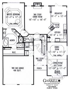 House Plans On Pinterest European House Plans Floor