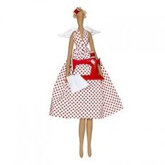 Kit con instrucciones, patrones y materiales para realizar un ángel Sewingbird con su máquina de coser.  No incluye floca de relleno.  Medida: 58 cm.