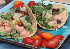 Grilled-Salmon Tacos With Mango Black-Bean Salsa