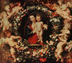 Peter Paul Rubens - Virgin with a Garland of Flowers  (900×786)