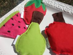 The Very Hungry Caterpillar fruit bean bags for play by KAPSmade, $18.00