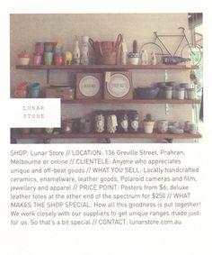 Lunar Store // Frankie Magazine, Melbourne, Ceramics, Store, Shopping, Design, Ceramica, Pottery, Larger