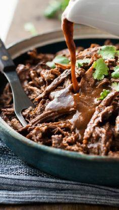 Low FODMAP and Gluten Free Recipe - Pulled beef brisket http://www.ibssano.com/low_fodmap_recipe_pulled_beef_brisket.html